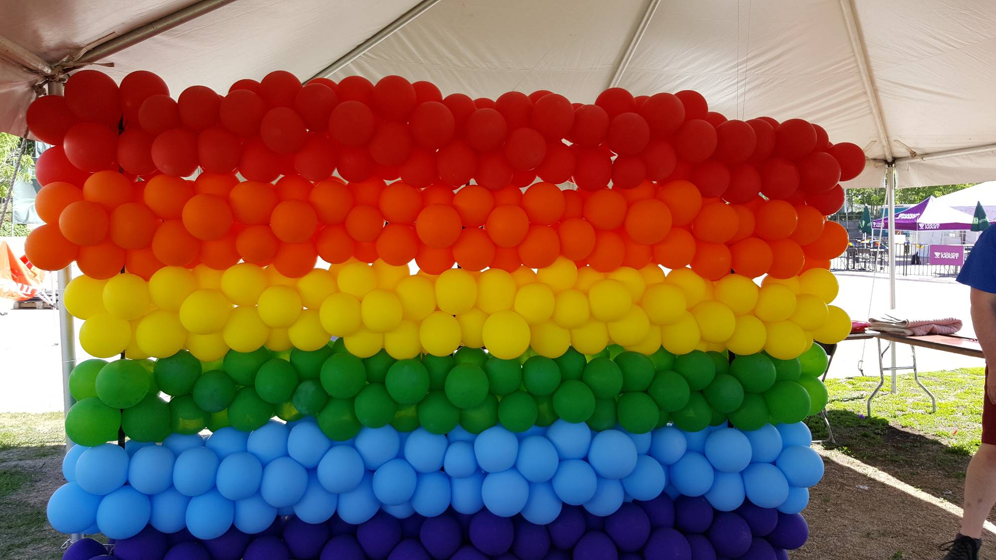 LGBTQ Rainbow Wall by Balloon Empire